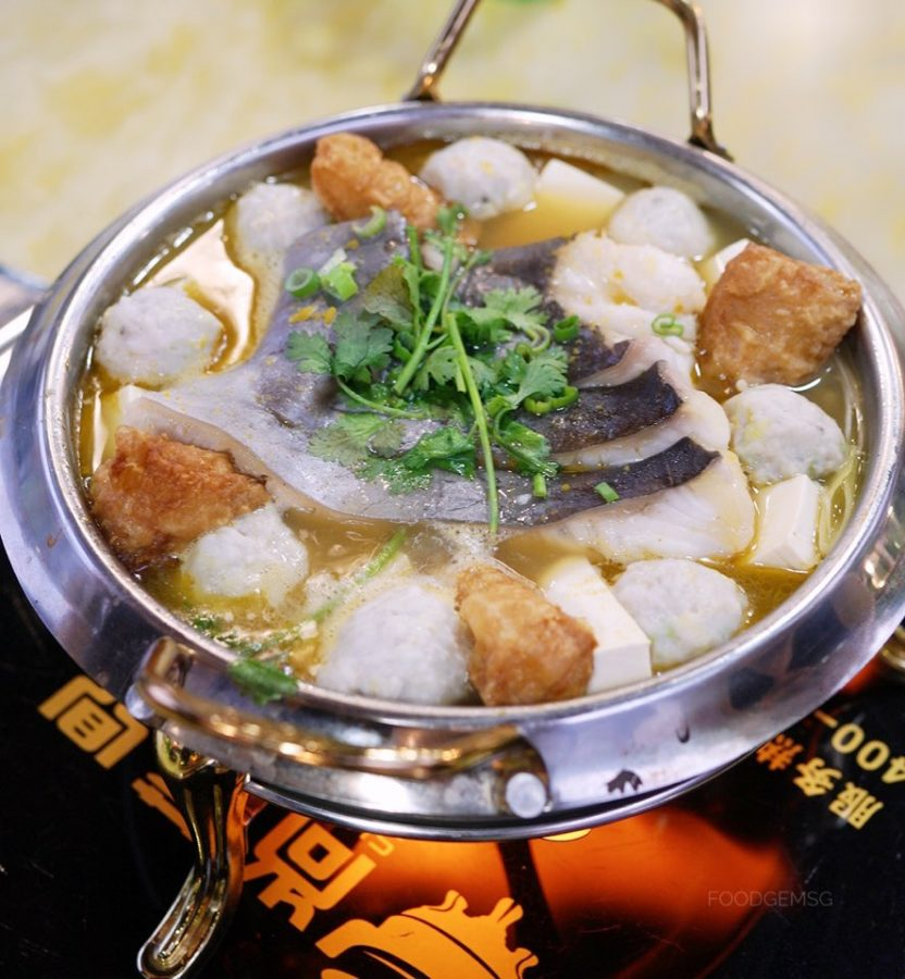 Tian Tian Fisherman's Pier Seafood Restaurant  Braised Wild Patin Fish with Golden Soup in Claypot