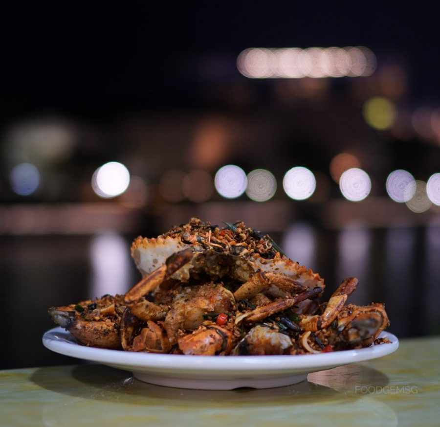 Tian Tian Fisherman's Pier Seafood Restaurant Fried Spicy Crab in Authentic Bi Fen Tang Style