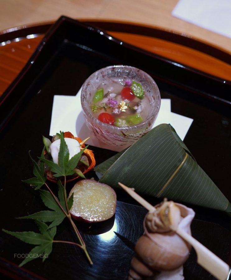 yoshi restaurant omakase appetizer